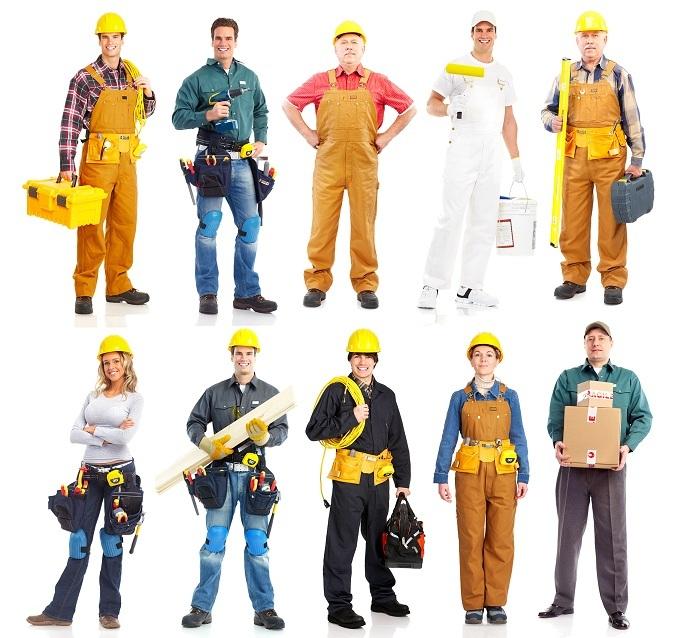 stavbári, murári, maliari, obkladači, zateplovači, vodári, elektrikári