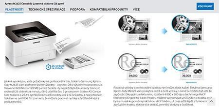 Samsung M2625 podpora k tlačiarni
