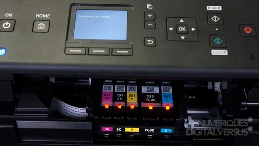 Zobrazenie vnútorných cartridge tlačiarne Canon PIXMA MG5650
