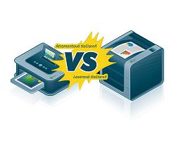 Atramentová vs. laserová tlačiareň