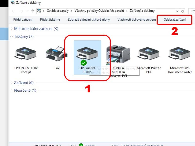 Problémy s inštaláciou tlačiarne v operačnom systéme Windows 10