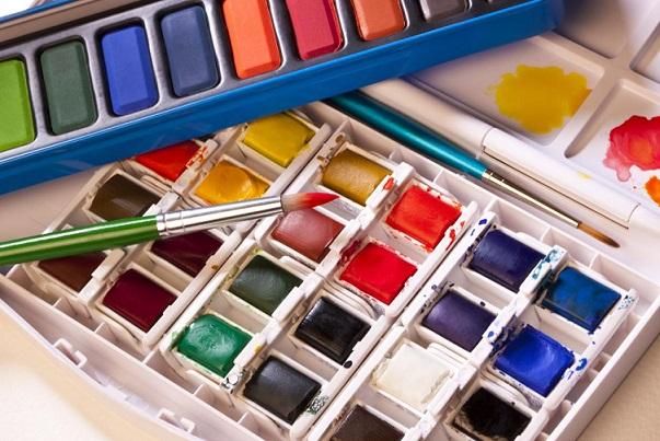 Vodové farby, temperové farby