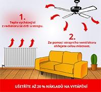 Stropný ventilátor - ako ušetriť