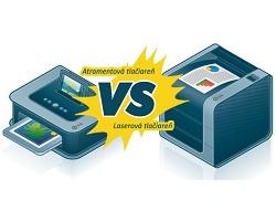 Súboj favoritov - atramentová vs. laserová tlačiareň