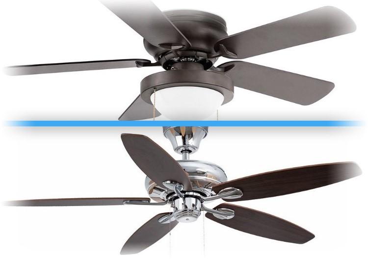 Stropný ventilátor bez svetla alebo s osvetlením