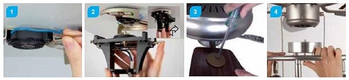easy click inštalácia ventilátora