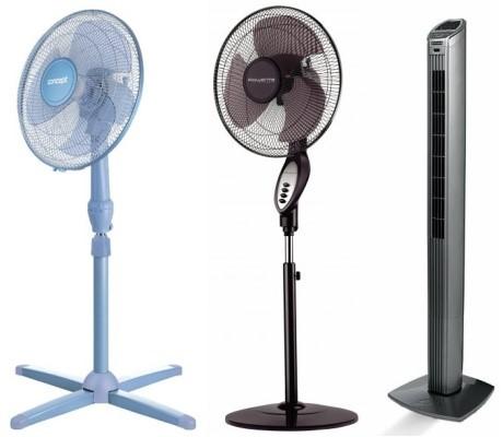 Stolové ventilátory a stojanové ventilátory