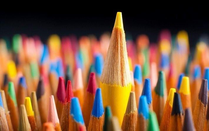 farebné ceruzky, pastelky