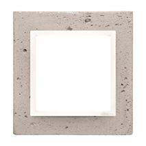 Rámik jednonásobný betónový Simon 54 nature Svetlý betón/biela