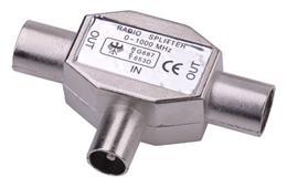 Anténny zlučovač IEC zástrč. - 2x zásuv.