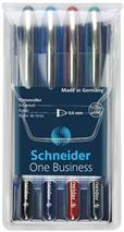 """Roller, sada, 0,6 mm, """"SCHNEIDER """"One Business"""", 4 farby"""