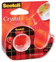 "Lepiaca páska, s dispenzorom, 19 mm x 7,5 m, 3M SCOTCH ""Crystal"
