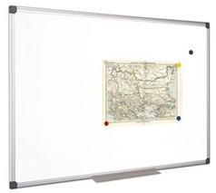 Magnetická biela tabuľa, hliníkový rám, 60 x 40 cm