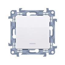 Vypínač Simon 10 č.1 LED podsv. modul biely