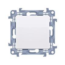 Vypínač tlačidlový Simon 10 bez piktogramu modul biely