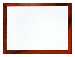 Magnetická biela tabuľa, MDF rám dub, 80 x 120 cm