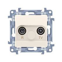 Zásuvka RTV Simon 10 koncová modul béžová