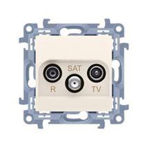 Zásuvka RTV-SAT Simon 10 koncová modul béžová