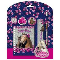 Derform, set školských potrieb (6 ks) s motívom HORSES (DFM-ZPS6KO13)