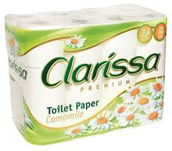 """Toaletný papier, 3 vrstvový, 24 kotúčov, """"Clarissa"""""""