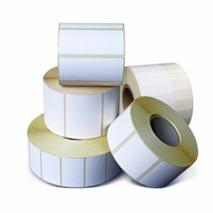 Etikety na kotúči, kruh priemer 60 mm biele, (40 mm/1 500 ks)