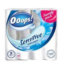 """Toaletný papier, 3 vrstvový, 32 ks/bal, """"Ooops!"""", sensitive"""