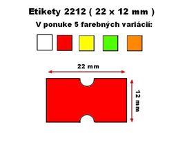 Cenové etikety Cola-ply 22x12 mm červené