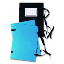 Spisové dosky A4 so šnúrkami a etiketou modré