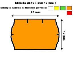 Cenové etikety Contact 25x16 mm oranžové