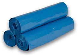 Vrecia na odpad 120 l, 70 x 110 cm, typ 40, 25 ks/rolka, modrá