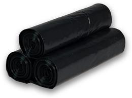 Vrecia na odpad 70 l, 55 x 100 cm, extra silné - 150 mic, čierna