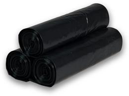 Vrecia na odpad 30 l, 50 x 60 cm, 25 ks/rolka, čierna
