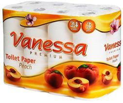 """Toaletný papier, 3 vrstvový, 24 kotúčov, """"Vanessa"""""""