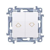 Tlačidlo jednoduché žalúziové Simon 10 modul biele