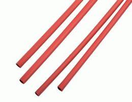 Zmršťovacie bužírky 6,5mm červené 1m (10ks)