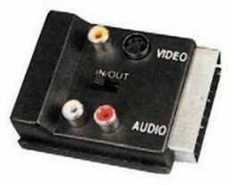 Redukcia SCART-SCART+3xRCA+S-VHS