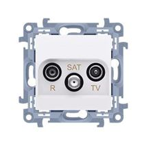Zásuvka RTV-SAT Simon 10 koncová modul biela