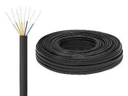 Kábel telefónny 8 žil. čierny (100m)