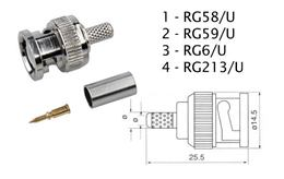 Konektor BNC RG6-U lisovací