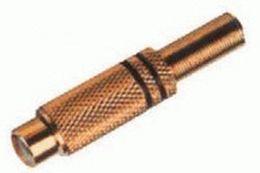 Konektor RCA zásuv. pozl. 2 pásiky čierny