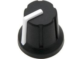 Gombík na potenciometer 6mm čierny N-1