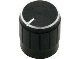 Gombík na potenciometer 15mm čierny kov.
