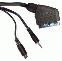 Kábel SCART-SVHS + Jack 3,5mm,  5m