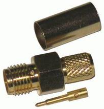 Konektor SMA-RP pozlátený H155 kol.