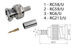 Konektor BNC RG59 lisovací