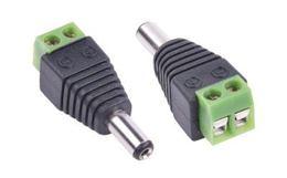 DC konektor zástrč. 2,1/5,5 s rýchlospojkou