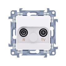 Zásuvka RTV Simon 10 koncová modul biela