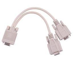 Kábel VGA zástrč. - VGA 2x zásuv.