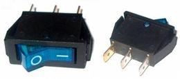 Prepínač kolískový 3pin 230V modrý