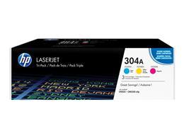 Toner HP CF372AM (304A), trojbalenie, multipack, originál